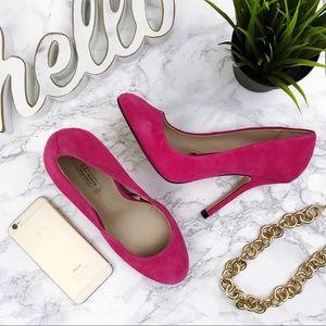 ZARA WOMAN Pink Suede stiletto pumps 38 7.5